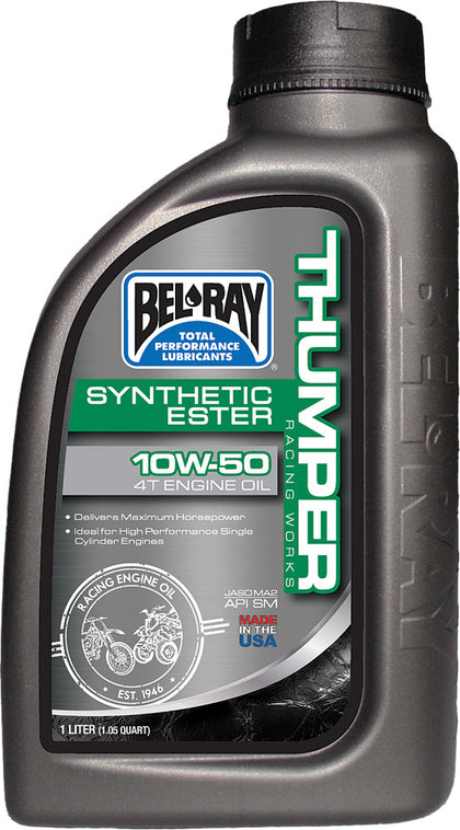 BEL-RAY THUMPER SYNTHETIC ESTER 4T ENGINE OIL 10W-50 1L 99550-B1LW