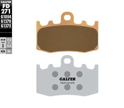 GALFER BRAKE PADS SINTERED CERAMIC FD271G1375 FD271G1375
