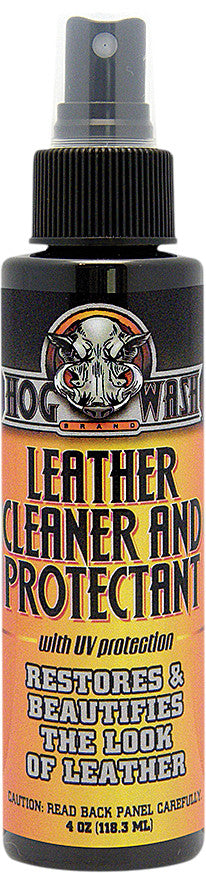 HOG WASH LEATHER CLEANER & PROTECTANT W/UV PROTECTION 4OZ HW0547