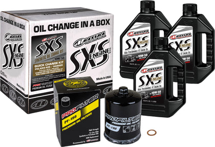 MAXIMA SXS QUICK CHANGE KIT 10W-50 WITH BLACK OIL FILTER 90-219013