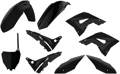 POLISPORT PLASTIC BODY KIT BLACK 90821