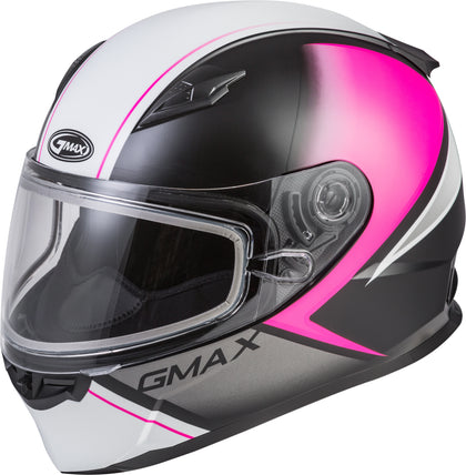 GMAX FF-49S FULL-FACE HAIL SNOW MATTE BLACK/PINK/WHITE MD G2495345
