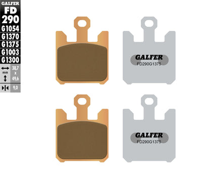 GALFER BRAKE PADS SINTERED CERAMIC FD290G1375 FD290G1375
