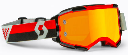 SCOTT FURY GOGGLE RED/BLACK ORANGE CHROME WORKS 272828-1018280