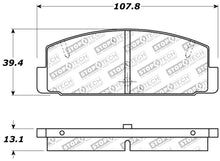 Load image into Gallery viewer, StopTech Performance 89-95 Mazda RX7 / 03-05 Mazda 6 Rear Brake Pads
