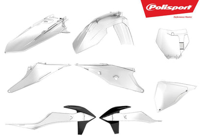 POLISPORT PLASTIC BODY KIT CLEAR 90813