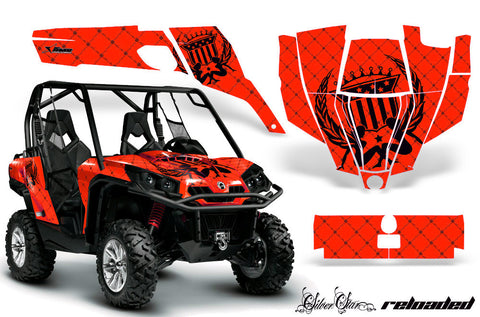 UTV Graphics Kit SXS Decal Sticker Wrap For Can-Am Commander 800 1000 RELOADED BLACK RED