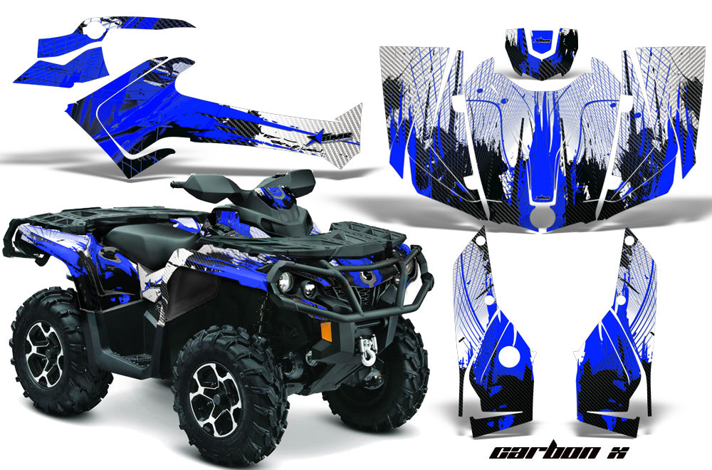 ATV Graphics Kit Decal Wrap For CanAm Outlander 800R/1000 XT-P DPS SST G2 CARBONX BLUE-atv motorcycle utv parts accessories gear helmets jackets gloves pantsAll Terrain Depot