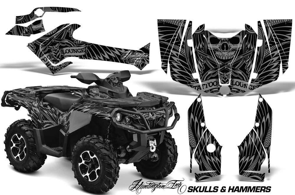 ATV Graphics Kit Decal Wrap For CanAm Outlander 800R/1000 XT-P DPS SST G2 HISH SILVER-atv motorcycle utv parts accessories gear helmets jackets gloves pantsAll Terrain Depot