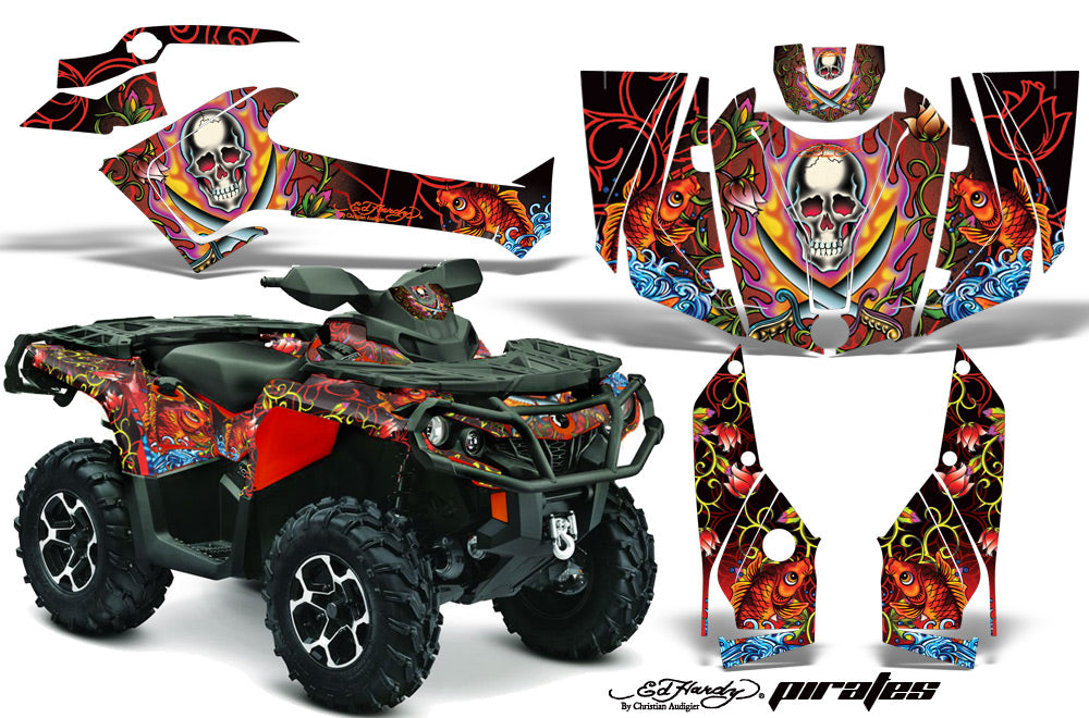 ATV Graphics Kit Decal Wrap For CanAm Outlander 800R/1000 XT-P DPS SST G2 EDHP RED-atv motorcycle utv parts accessories gear helmets jackets gloves pantsAll Terrain Depot