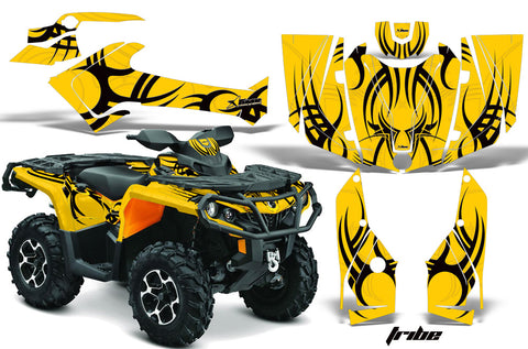 ATV Graphics Kit Decal Wrap For CanAm Outlander 800R/1000 XT-P DPS SST G2 TRIBE BLACK YELLOW