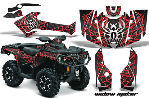 ATV Graphics Kit Decal Wrap For CanAm Outlander 800R/1000 XT-P DPS SST G2 WIDOW RED BLACK