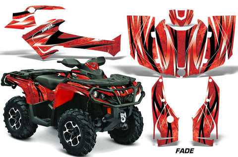 ATV Graphics Kit Decal Wrap For CanAm Outlander 800R/1000 XT-P DPS SST G2 FADE RED
