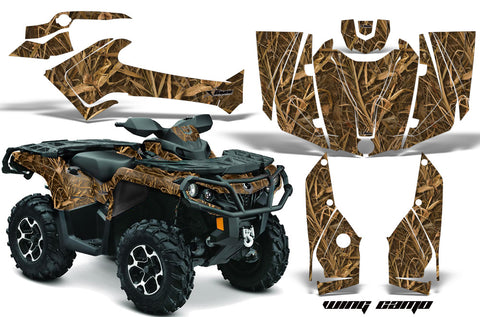 ATV Graphics Kit Decal Wrap For CanAm Outlander 800R/1000 XT-P DPS SST G2 WING CAMO