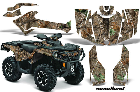ATV Graphics Kit Decal Wrap For CanAm Outlander 800R/1000 XT-P DPS SST G2 WOODLAND CAMO