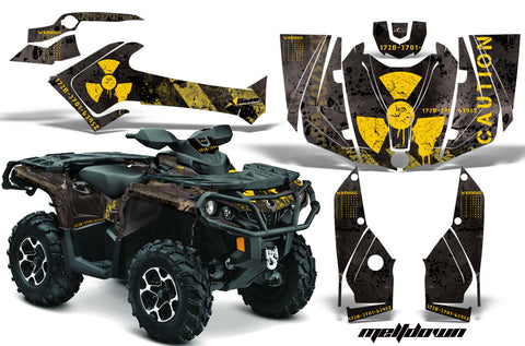 ATV Graphics Kit Decal Wrap For CanAm Outlander 800R/1000 XT-P DPS SST G2 MELTDOWN YELLOW BLACK