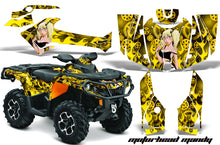 Load image into Gallery viewer, ATV Graphics Kit Decal Wrap For CanAm Outlander 800R/1000 XT-P DPS SST G2 MOTO MANDY YELLOW-atv motorcycle utv parts accessories gear helmets jackets gloves pantsAll Terrain Depot
