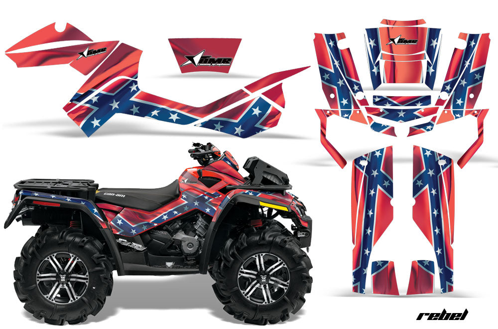 ATV Graphics Kit Decal Wrap For CanAm Outlander Max 500/800 2006-2012 REBEL-atv motorcycle utv parts accessories gear helmets jackets gloves pantsAll Terrain Depot