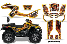 Load image into Gallery viewer, ATV Graphics Kit Decal Wrap For CanAm Outlander Max 500/800 2006-2012 FIRESTORM YELLOW-atv motorcycle utv parts accessories gear helmets jackets gloves pantsAll Terrain Depot