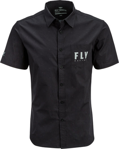 FLY RACING FLY PIT SHIRT BLACK SM BLACK SM 352-6213S