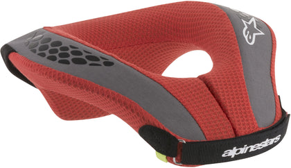 ALPINESTARS YOUTH SEQUENCE NECK SUPPORT BLACK/RED YL/YX 6741018-13-L/X
