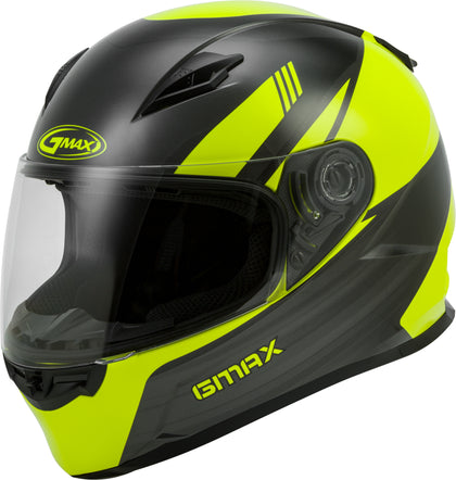 GMAX FF-49 FULL-FACE DEFLECT HELMET HI-VIS/GREY XL G1494527