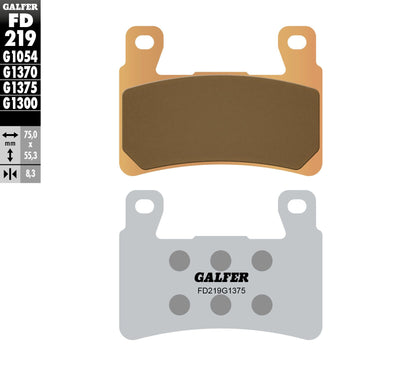 GALFER BRAKE PADS SINTERED CERAMIC FD219G1375 FD219G1375