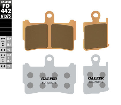 GALFER BRAKE PADS SINTERED CERAMIC FD442G1375 FD442G1375