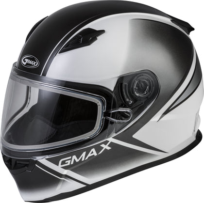 GMAX FF-49S FULL-FACE HAIL SNOW HELMET WHITE/BLACK 2X G2495018