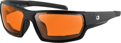 BOBSTER TREAD SUNGLASSES MATTE BLACK W/AMBER LENS REMOVABLE FOAM BTRE001A