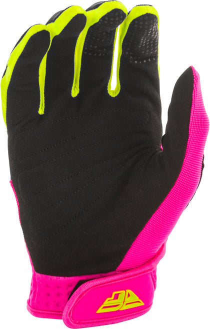 FLY RACING F-16 GLOVES NEON PINK/BLACK/HI-VIS SZ 11 373-91611