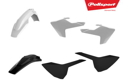 POLISPORT PLASTIC BODY KIT WHITE/BLACK 90829
