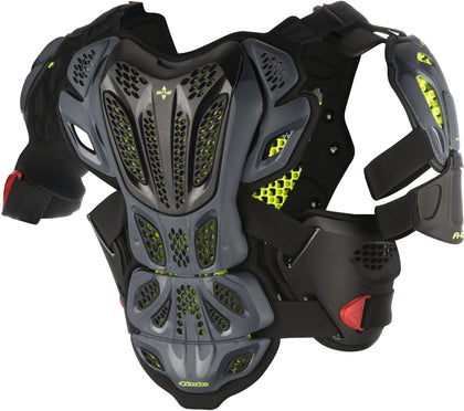 ALPINESTARS A-10 FULL CHEST PROTECTOR ANTHRACITE/RED MD/LG 6700517-1431-M/L