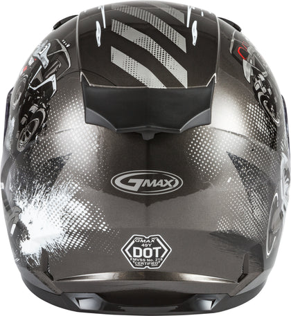 GMAX YOUTH GM-49Y BEASTS FULL-FACE HELMET DARK SILVER/BLACK YL G1498542