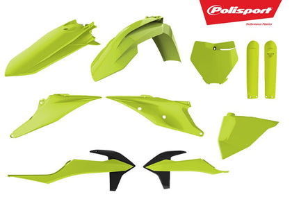 POLISPORT PLASTIC BODY KIT FLO YELLOW 90812