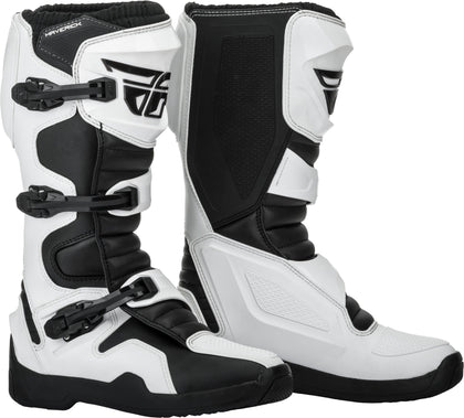 FLY RACING MAVERIK BOOTS WHITE/BLACK SZ 10 364-67510