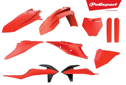 POLISPORT PLASTIC BODY KIT FLO ORANGE 90815
