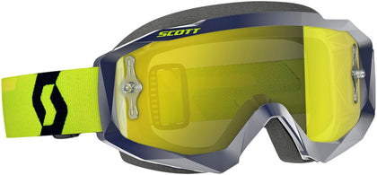 HUSTLE GOGGLE BLUE/YELLOW W/YELLOW CHROME WORKS