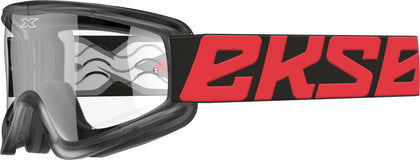 FLAT-OUT GOGGLE RED/BLACK W/CLEAR LENS