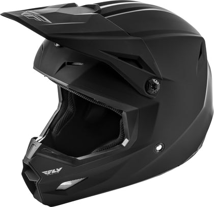 FLY RACING KINETIC SOLID HELMET MATTE BLACK LG