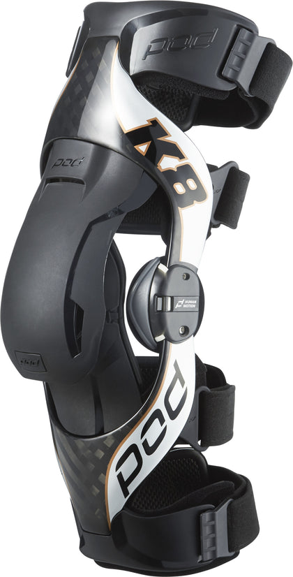 POD K8 2.0 KNEE BRACE LT CARBON/COPPER SM K8011-169-SM