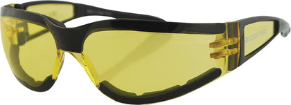 BOBSTER SHIELD II SUNGLASSES BLACK W/YELLOW LENS ESH204