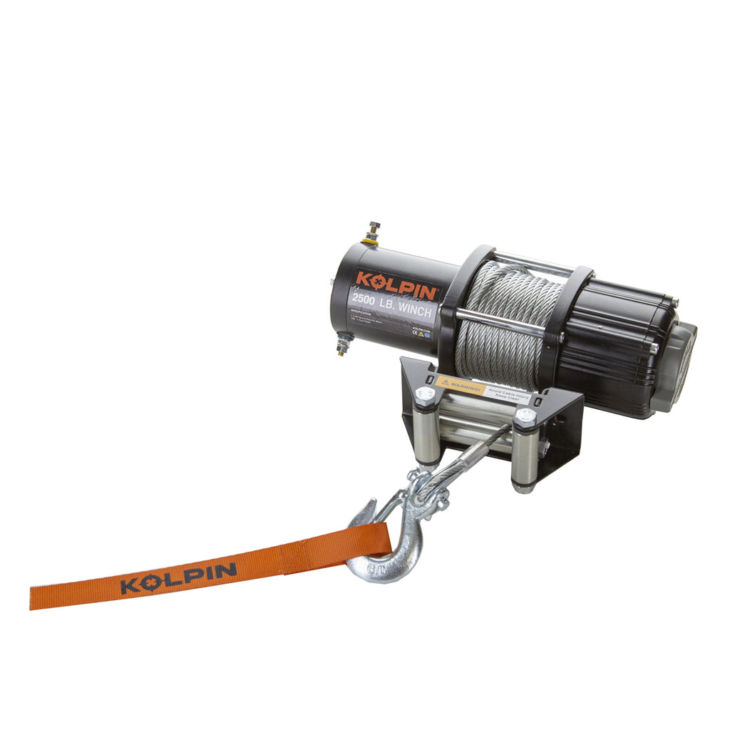 KOLPIN WINCH KIT - 2500 LB - STEEL CABLE