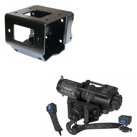 Polaris Sportsman and Scrambler Winch Kit Includes KFI SE35 Stealth Winch and Mount - Allterraindepot