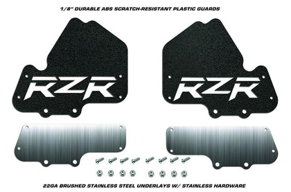 2PC set of RZR Mud Flaps w/ Stainless Steel CV Boot Guard fits Polaris RZR 1000 XP 900 S