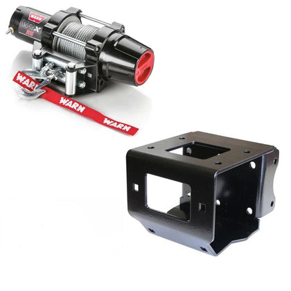 ATV Fourwheeler Winch Kit For Polaris Sportsman 550 Touring 2010-14 WARN VRX-25 Ready To Install Kit With Mount Plate