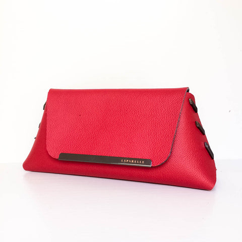 Reversible Clutch Bag - Small - Black / Red