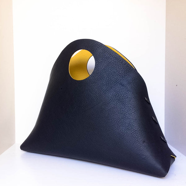 Reversible Medium Shell Bag -  Black /Yellow