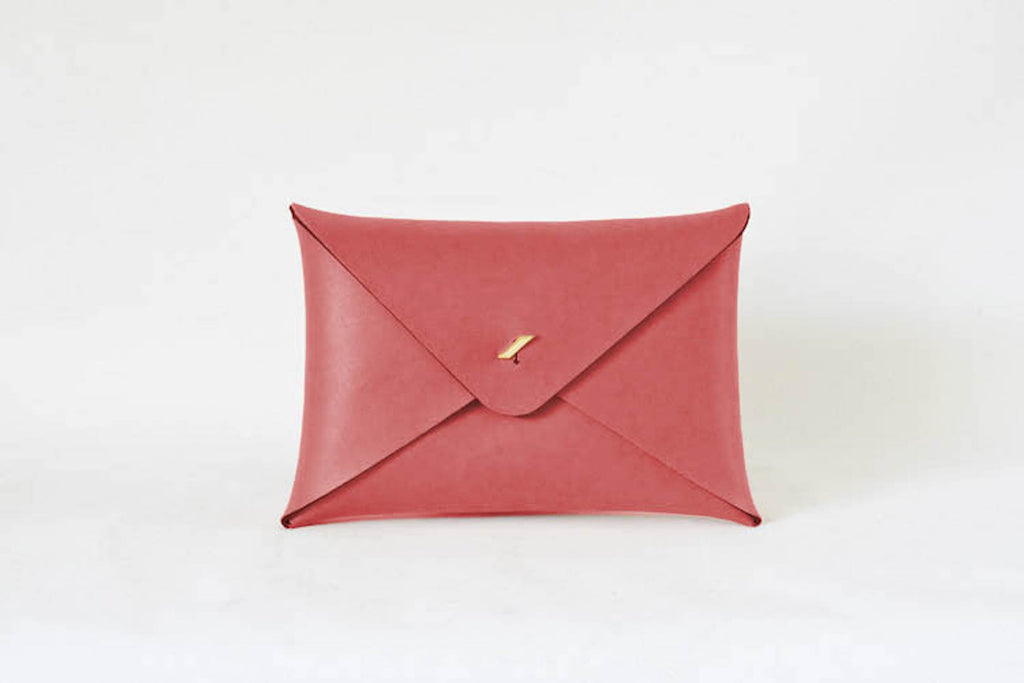 Reversible Envelope - Coral / Ivory