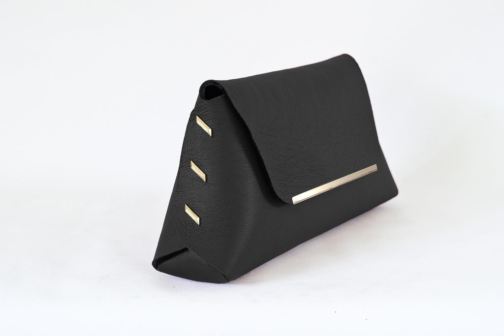 Reversible Clutch Bag - Small - Black / Ivory